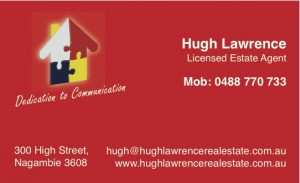 business card HLRE Hugh